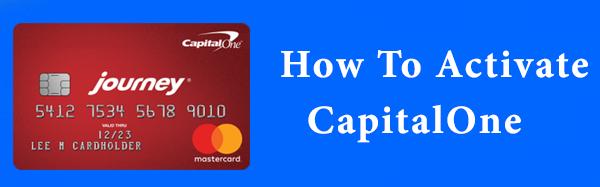 Activate CapitalOne Activate